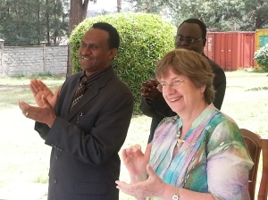 Rev Dr Stephen Mbogo, Mrs Joan Addison, Rev John Shikuku