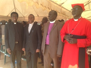 AE ITL Rev Dr Stephen Mbogo & AE Kenya Rev Dr Edward Ngaira with Church  leaders in South Sudan