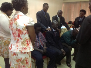 AE leaders & Nairobi pastors pray for South  Sudanese leaders