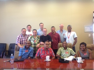 Michael Cassidy,  Ministry Associates Greg Smerdon Robert Botha and Christian leaders at the University of Pretoria